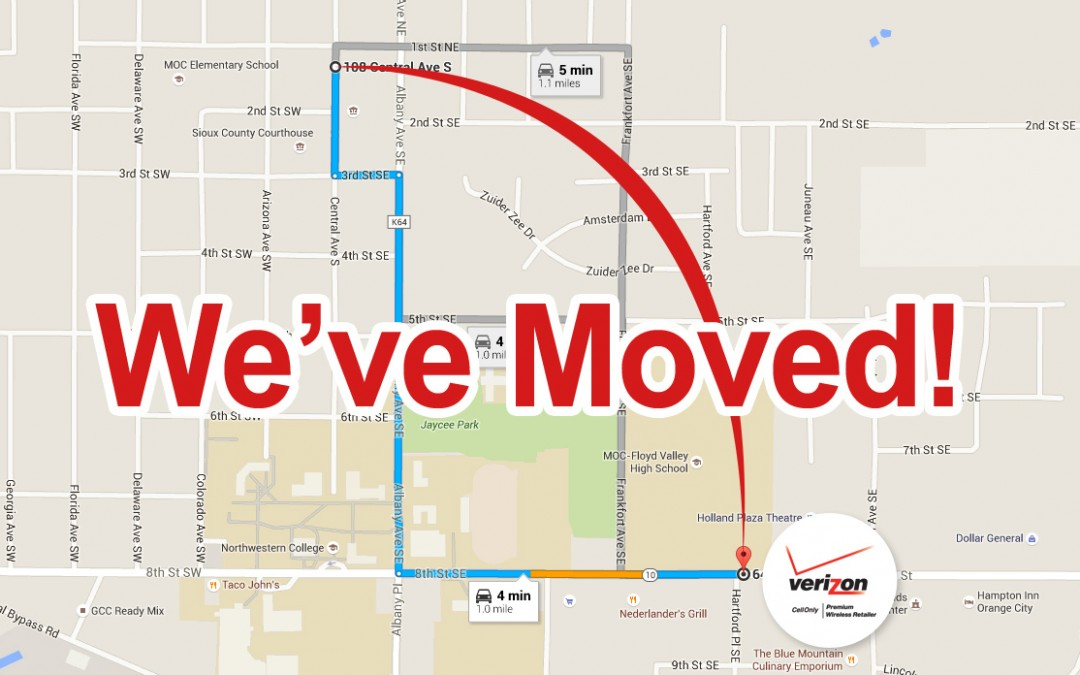 Hello Orange City! We're moving on April 12.