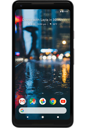 Front angle of an Google Pixel 2 XL.