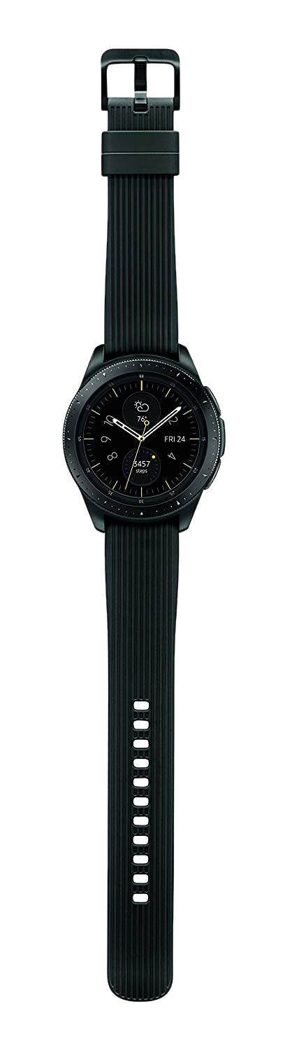 Samsung Galaxy Watch shown in Black.
